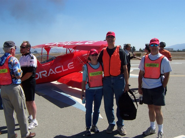 Here we are in front of Sean D. Tucker's beautiful Oracle Challenger.