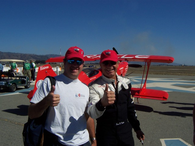 My brush with greatness.  In addition to being an incredible pilot, Sean is a super nice guy.